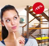 Скидка 15% на производство и монтаж лестниц