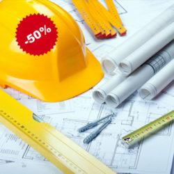 Скидки 50% на проектные работы